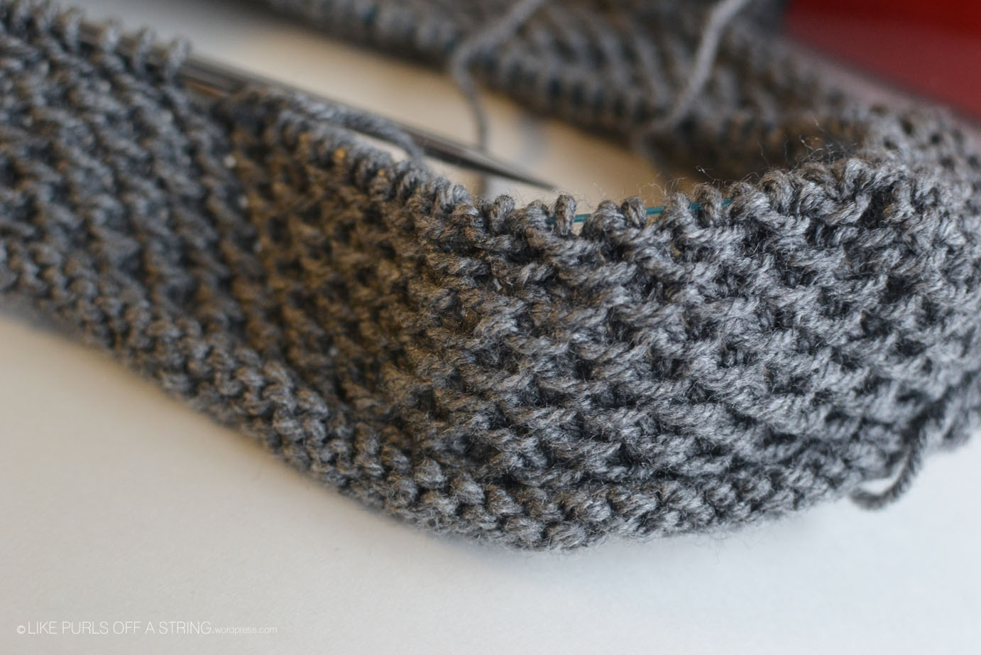 WIP: Grey Honey Cowl   Stitches & Spoonfuls